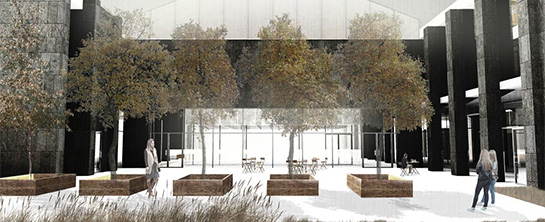 Welcome Center courtyard design